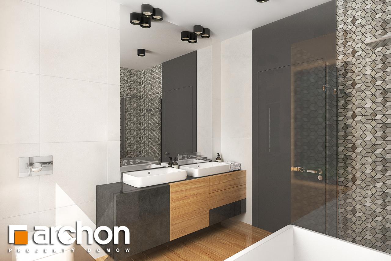 Проект дома ARCHON+ Дом в исменах (Г2) визуализация ванной (визуализация 3 вид 4)