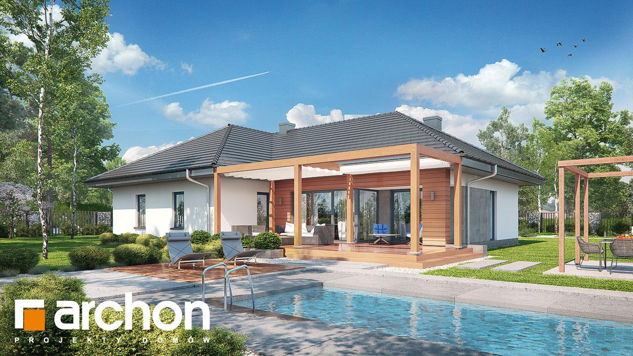 Проект дома ARCHON+ Дом в исменах (Г2) Вид 2