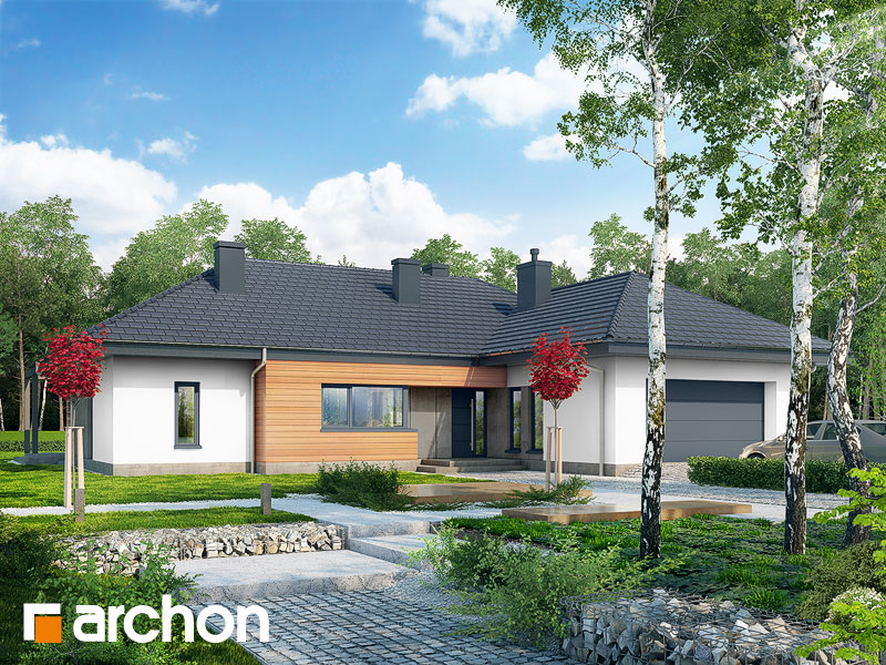 Проект дома ARCHON+ Дом в исменах (Г2) Вид 1