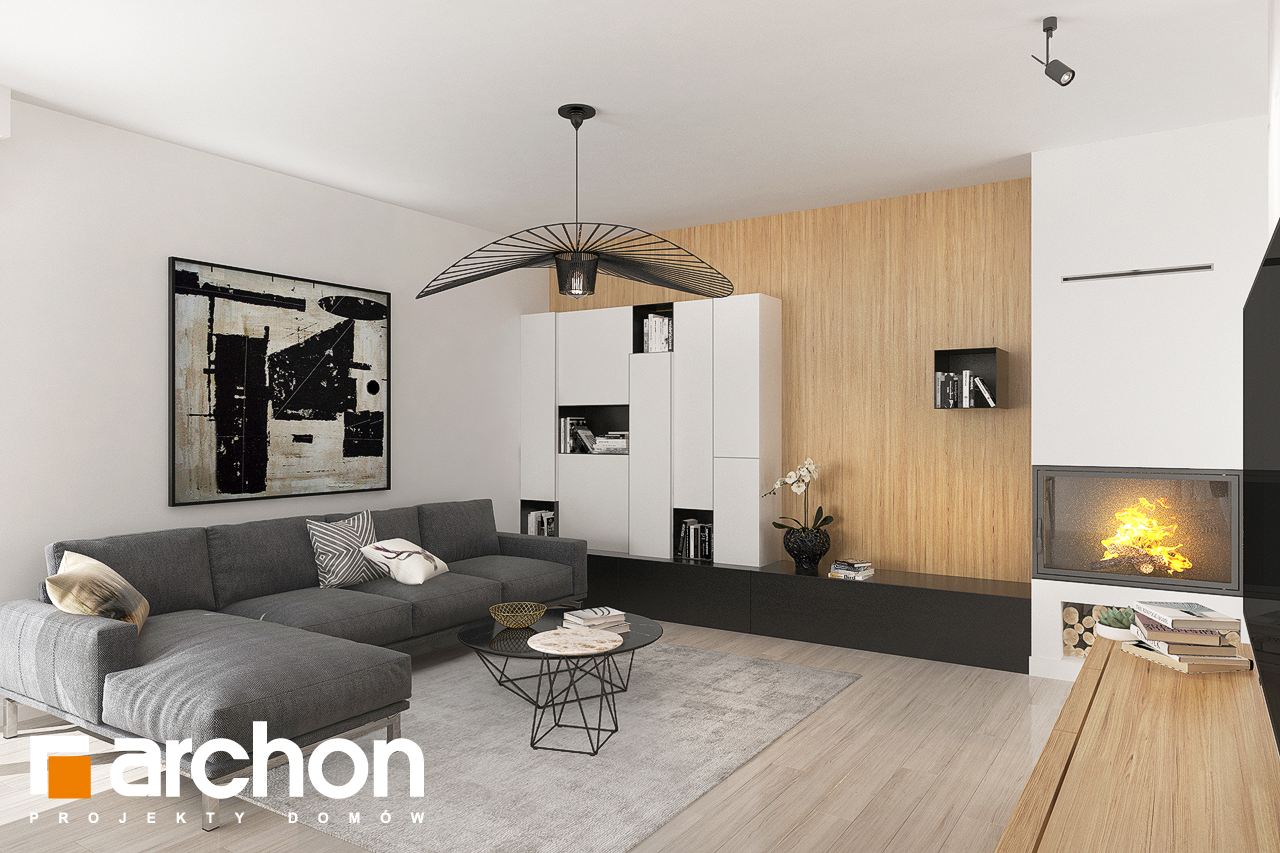 Проект будинку ARCHON+ Будинок в ісменах (Г2) денна зона (візуалізація 1 від 4)