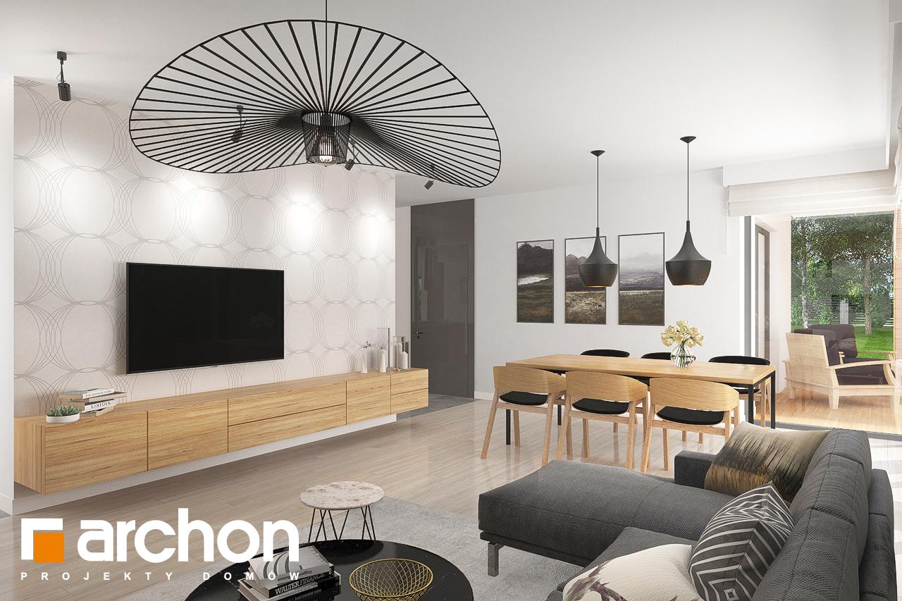 Проект дома ARCHON+ Дом в исменах (Г2) дневная зона (визуализация 1 вид 1)