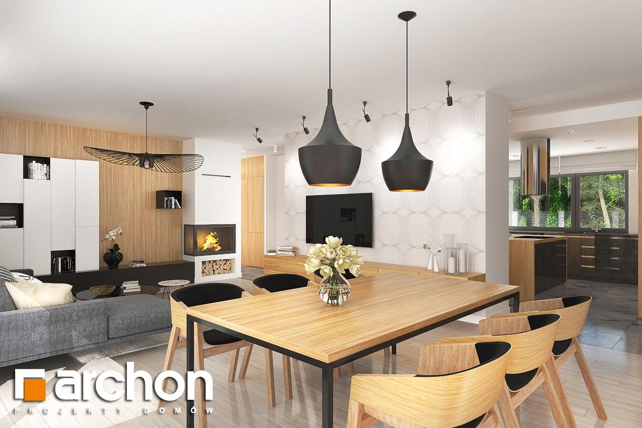 Проект дома ARCHON+ Дом в исменах (Г2) дневная зона (визуализация 1 вид 2)