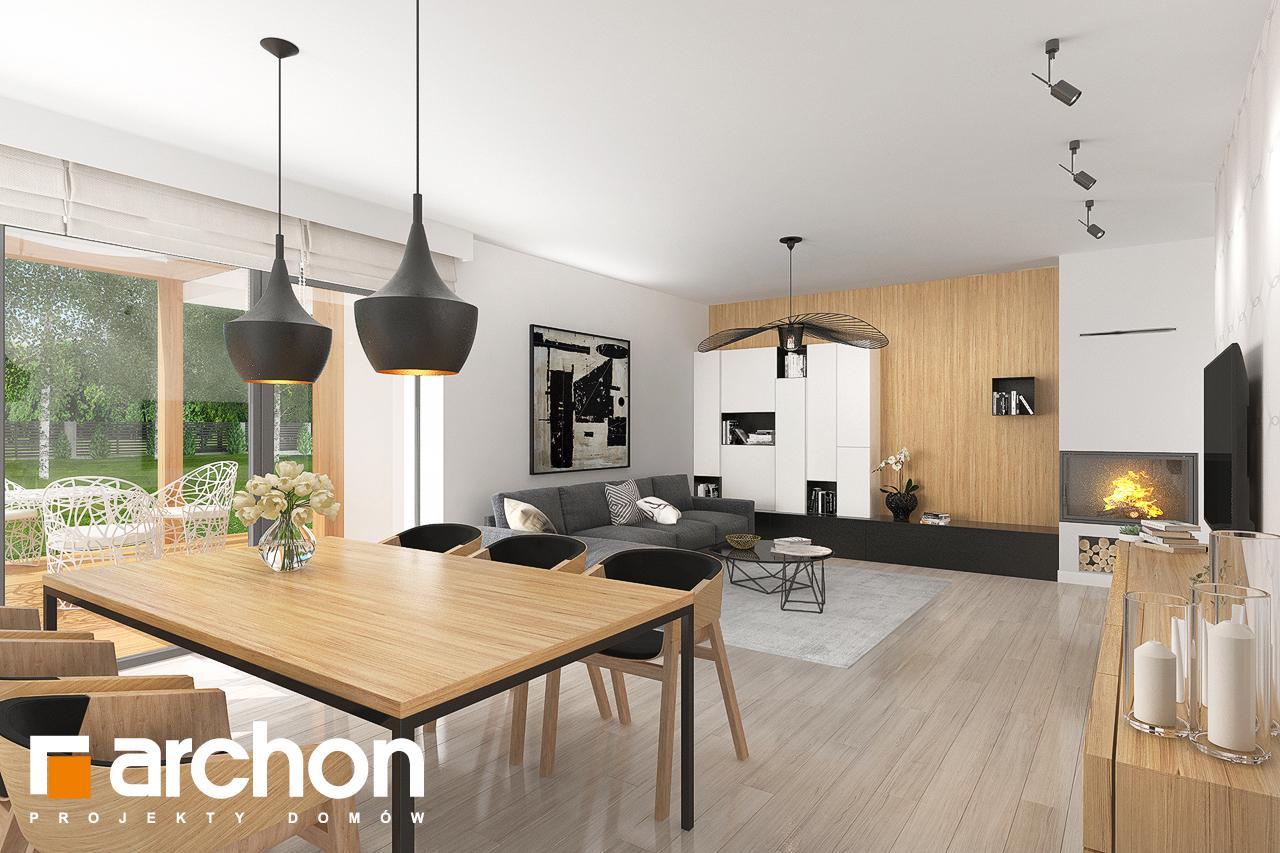 Проект дома ARCHON+ Дом в исменах (Г2) дневная зона (визуализация 1 вид 3)