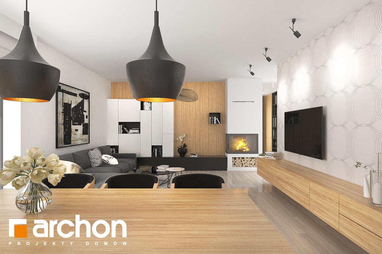 Проект дома ARCHON+ Дом в исменах (Г2) дневная зона (визуализация 1 вид 5)