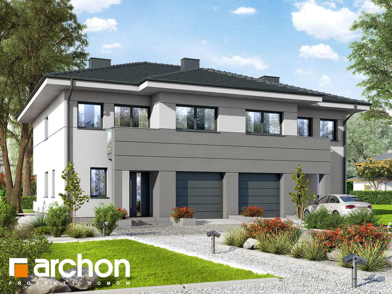 Проект будинку ARCHON+ Вілла Юлія ver.3 стилізація 3