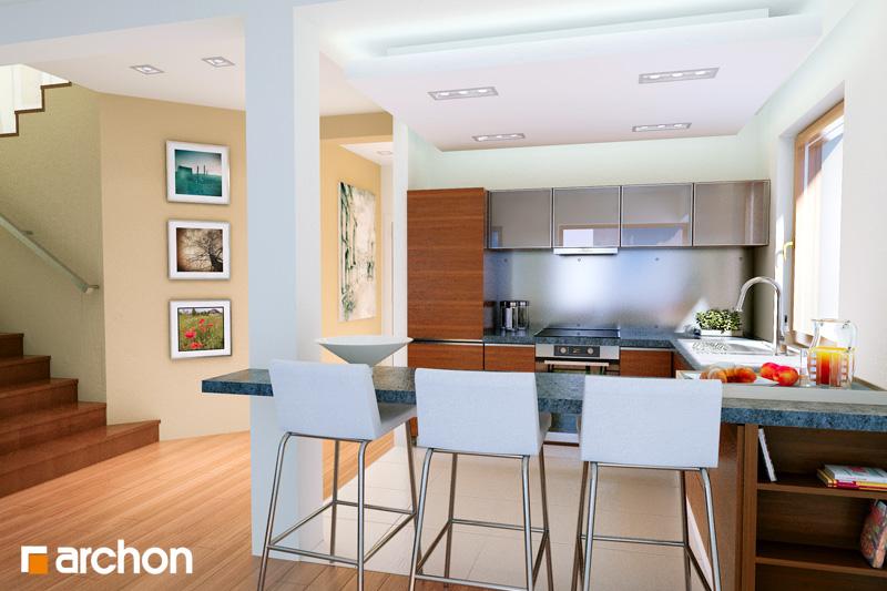 Проект будинку ARCHON+ Вілла Юлія ver.3 денна зона (візуалізація 1 від 2)