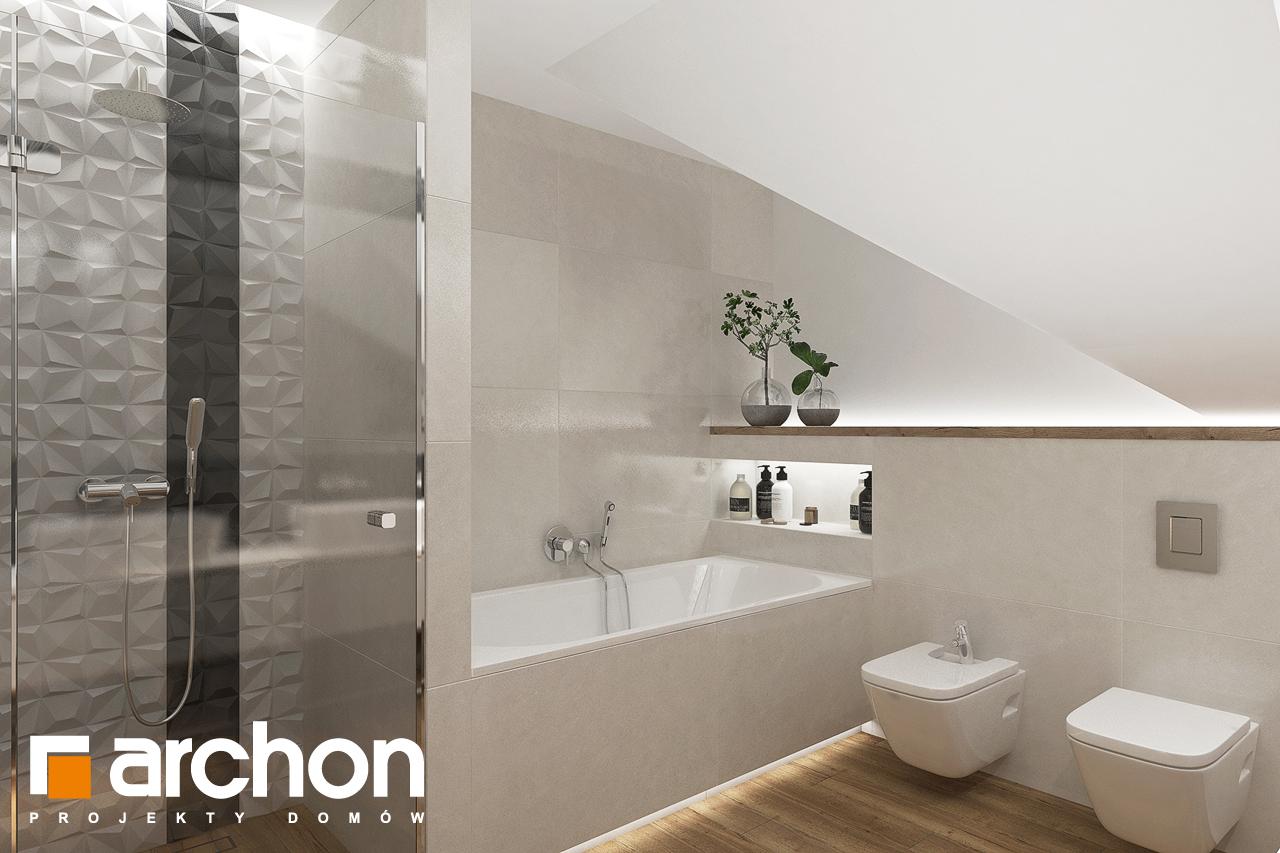 Проект будинку ARCHON+ Будинок у телімах 2 (Г) візуалізація ванни (візуалізація 3 від 3)