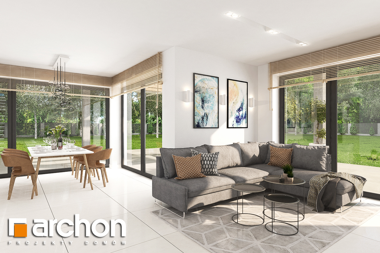 Проект будинку ARCHON+ Будинок у телімах 2 (Г) денна зона (візуалізація 1 від 2)