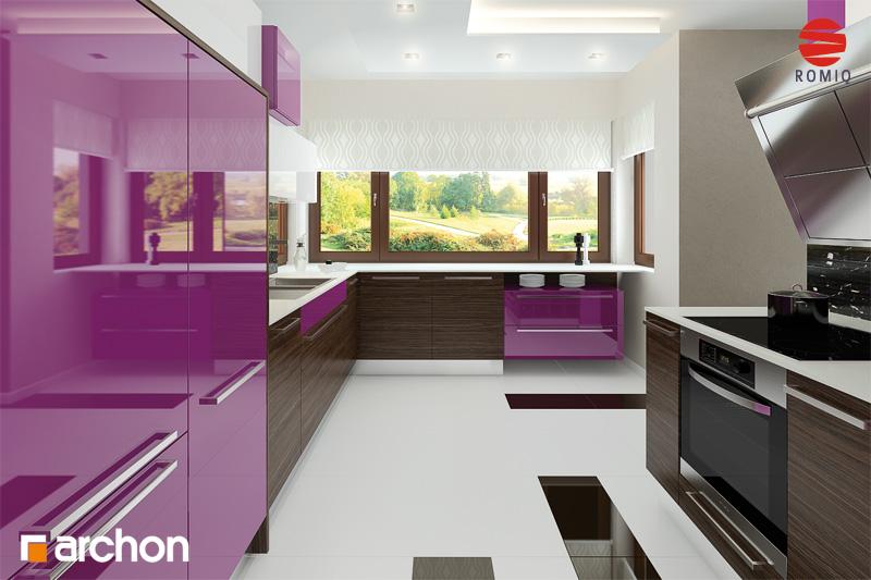 Проект будинку ARCHON+ Будинок в майорані 2 (Н) вер.2 аранжування кухні 1 від 2