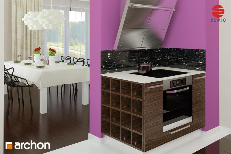 Проект будинку ARCHON+ Будинок в майорані 2 (Н) вер.2 аранжування кухні 1 від 3