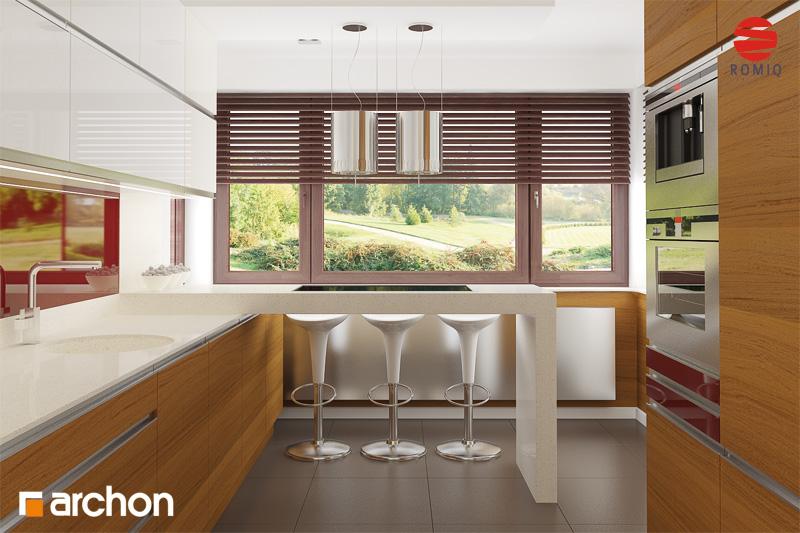 Проект будинку ARCHON+ Будинок в майорані 2 (Н) вер.2 аранжування кухні 2 від 3
