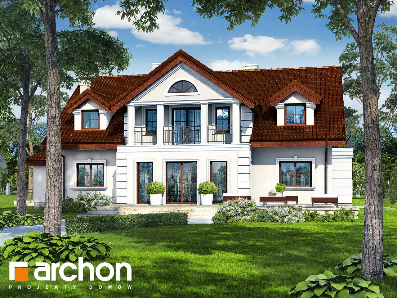 Проект дома ARCHON+ Дом под клёном (П) Вид 2