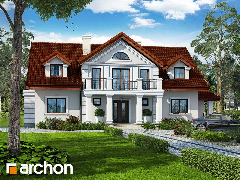 Проект дома ARCHON+ Дом под клёном (П) Вид 1