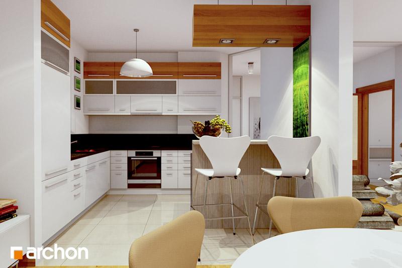 Проект дома ARCHON+ Дом в бархатцах ver.2 визуализация кухни 1 вид 1