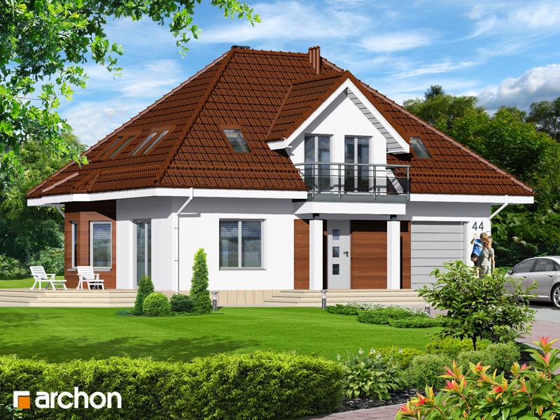Проект будинку ARCHON+ Будинок в чорнобривцях вер.2 стилізація 3