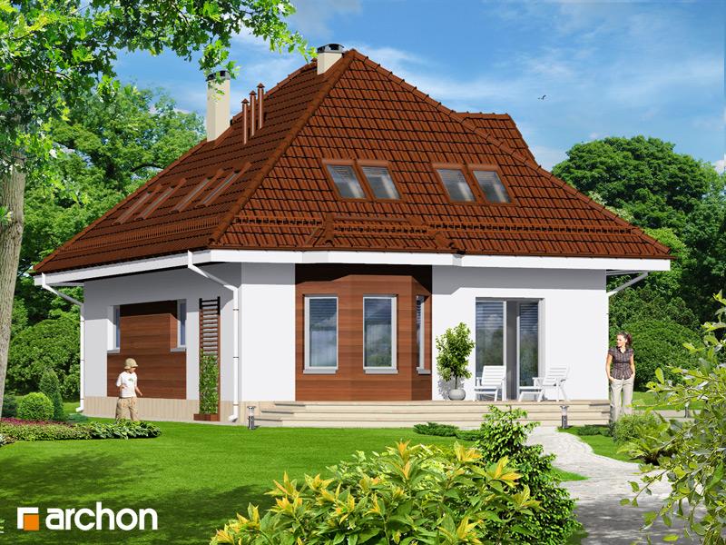 Проект будинку ARCHON+ Будинок в чорнобривцях вер.2 стилізація 4