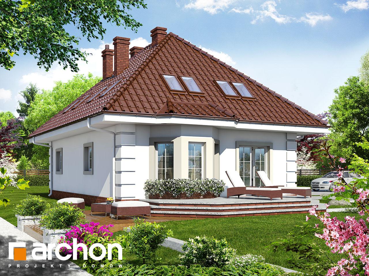 Проект будинку ARCHON+ Будинок в чорнобривцях вер.2 Вид 2