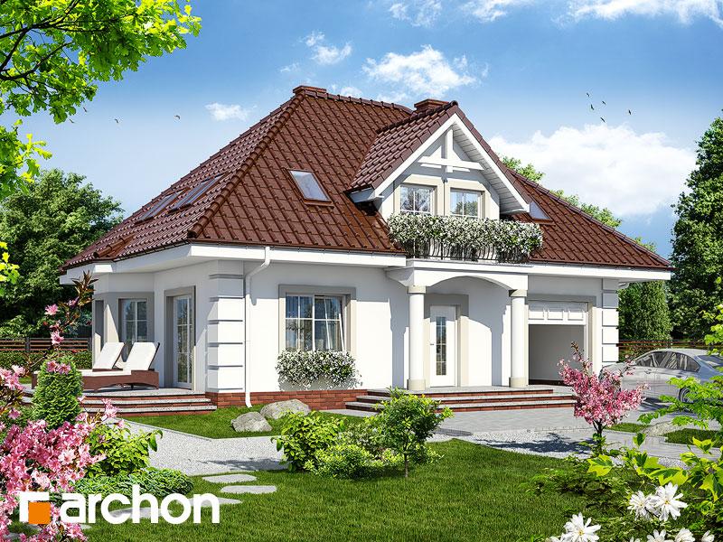 Проект будинку ARCHON+ Будинок в чорнобривцях вер.2 Вид 1