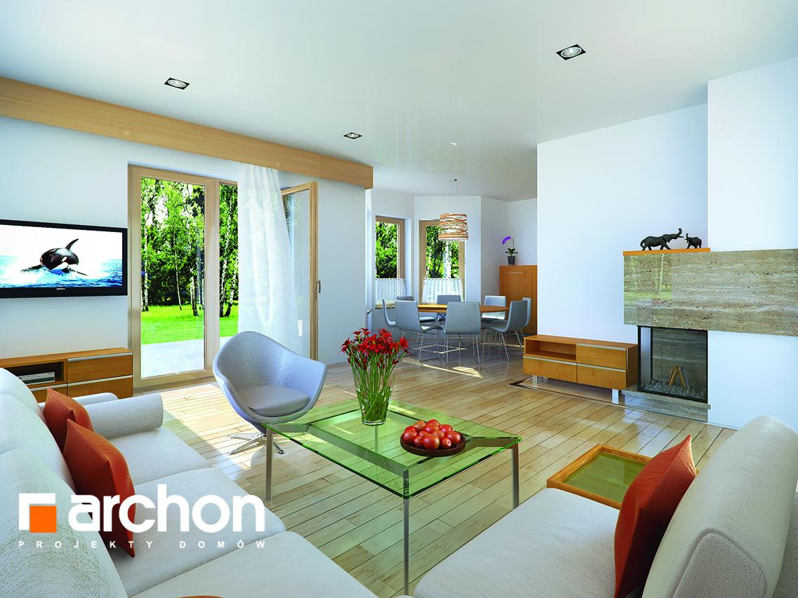 Проект дома ARCHON+ Дом в бархатцах ver.2 дневная зона (визуализация 1 вид 1)