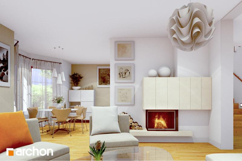 Проект дома ARCHON+ Дом в бархатцах ver.2 дневная зона (визуализация 2 вид 2)