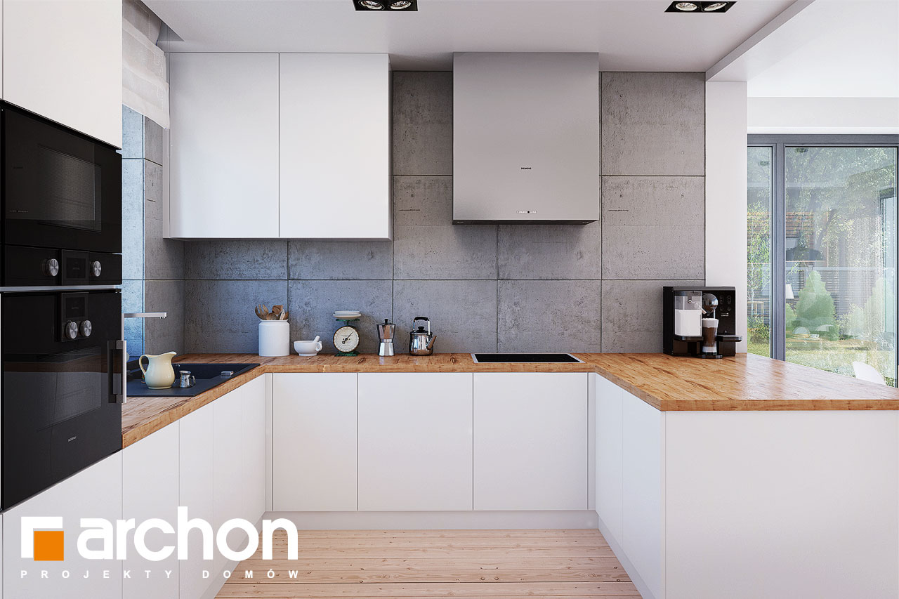 Проект будинку ARCHON+ Будинок в сливах (Г2) візуалізація кухні 1 від 2