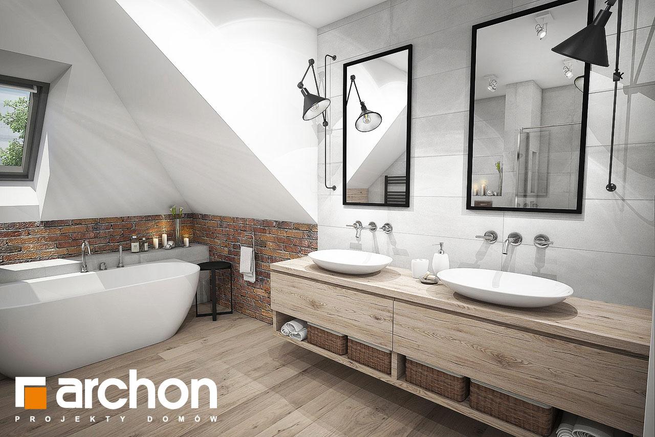 Проект будинку ARCHON+ Будинок в сливах (Г2) візуалізація ванни (візуалізація 3 від 1)