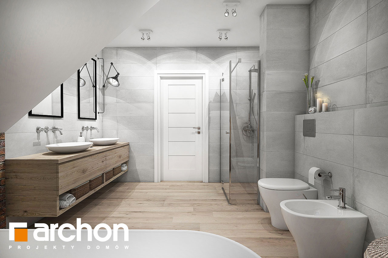Проект будинку ARCHON+ Будинок в сливах (Г2) візуалізація ванни (візуалізація 3 від 2)