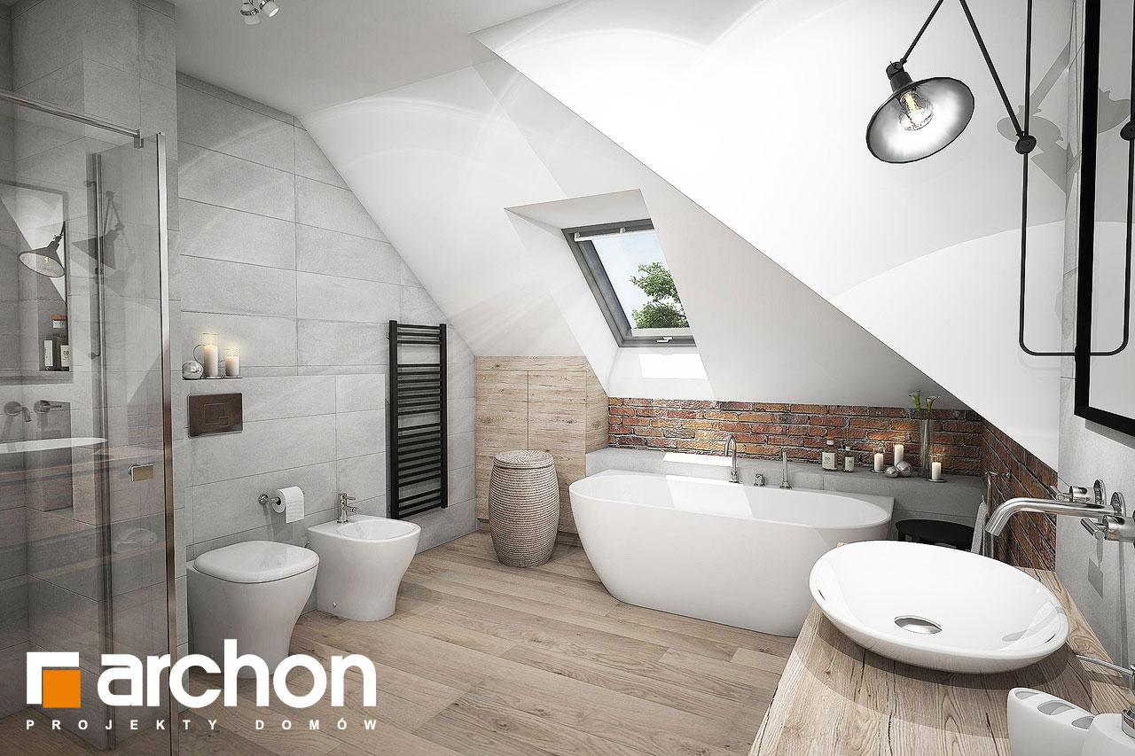 Проект будинку ARCHON+ Будинок в сливах (Г2) візуалізація ванни (візуалізація 3 від 3)