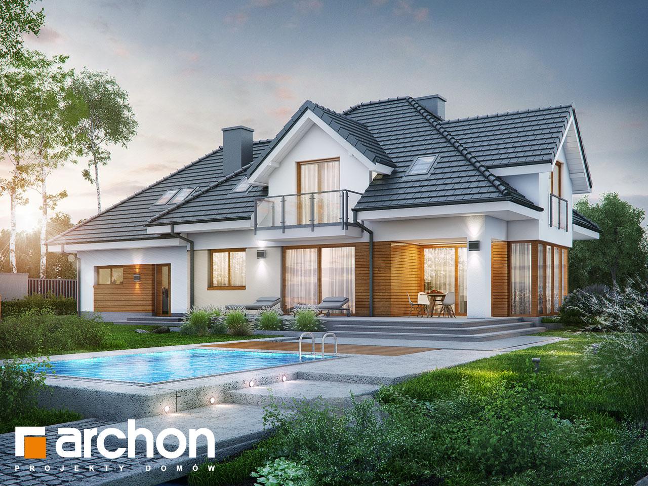 Проект будинку ARCHON+ Будинок в сливах (Г2) Вид 2