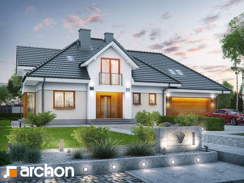 Проект будинку ARCHON+ Будинок в сливах (Г2) Вид 1