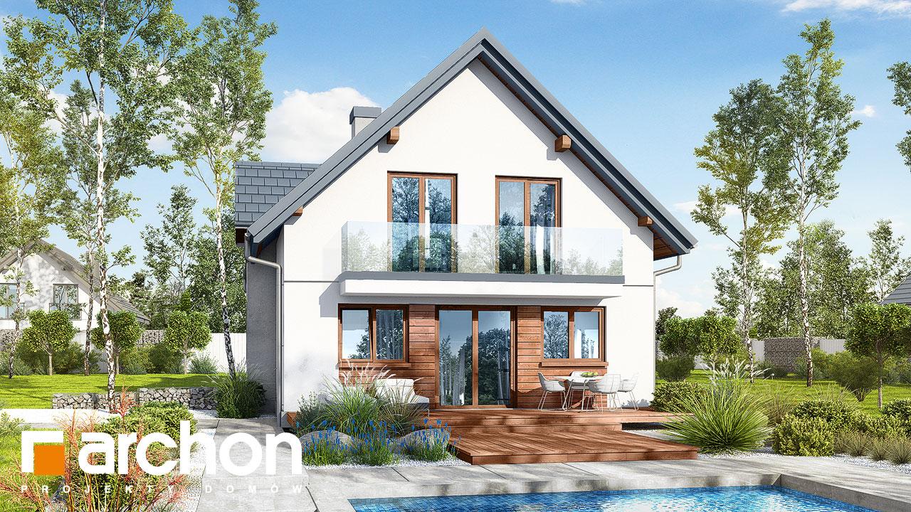 Проект будинку ARCHON+ Будинок в фуксіях Вид 2