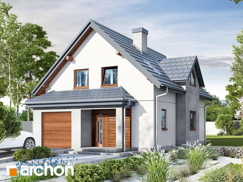 Проект будинку ARCHON+ Будинок в фуксіях Вид 1
