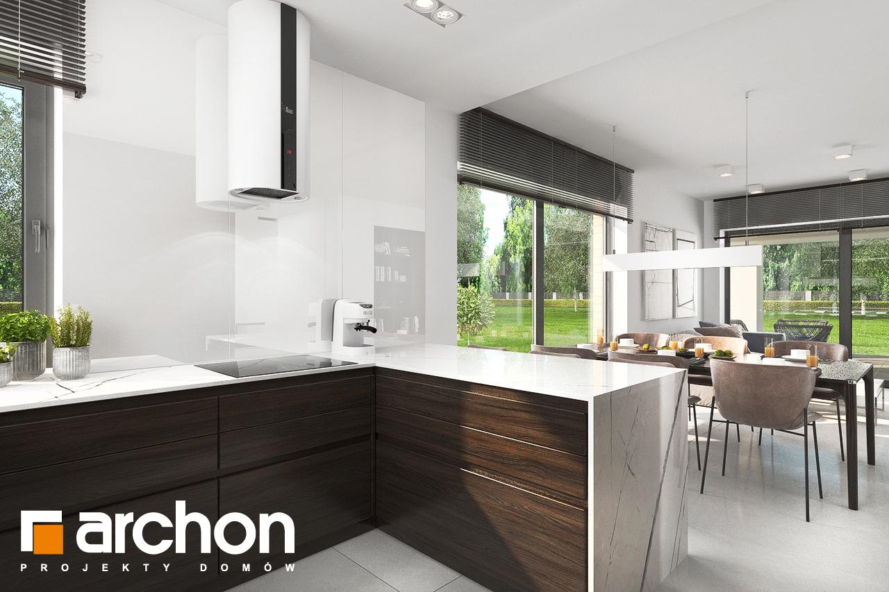 Проект будинку ARCHON+ Будинок в хакетіях 5 візуалізація кухні 1 від 3