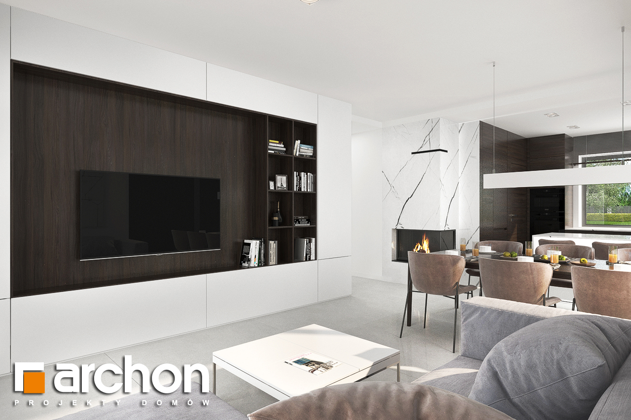 Проект будинку ARCHON+ Будинок в хакетіях 5 денна зона (візуалізація 1 від 1)