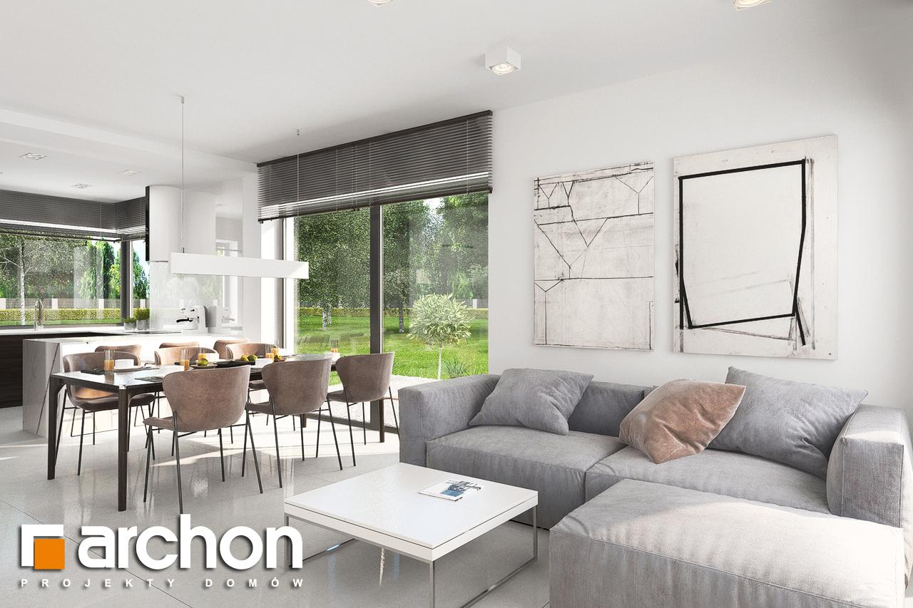 Проект будинку ARCHON+ Будинок в хакетіях 5 денна зона (візуалізація 1 від 4)