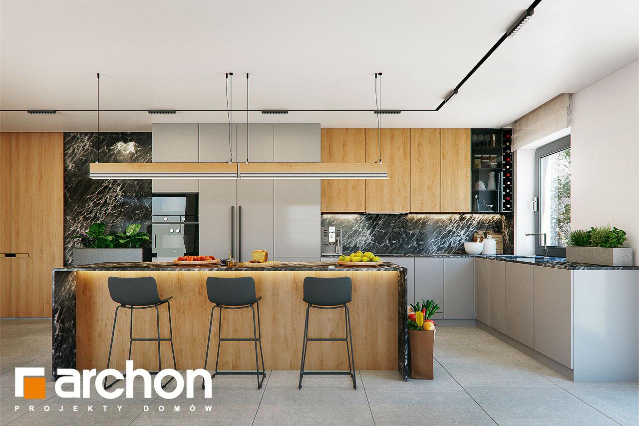 Проект дома ARCHON+ Дом в розах (Г2) визуализация кухни 1 вид 1