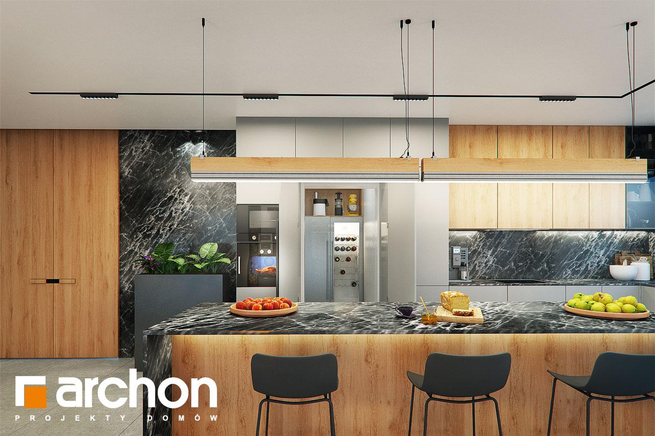 Проект дома ARCHON+ Дом в розах (Г2) визуализация кухни 1 вид 2