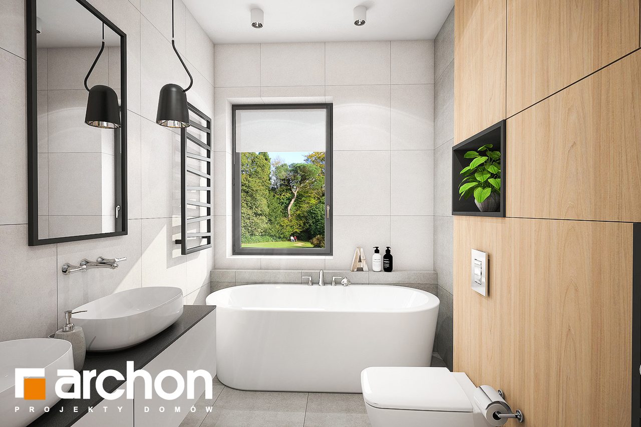 Проект дома ARCHON+ Дом в розах (Г2) визуализация ванной (визуализация 3 вид 1)