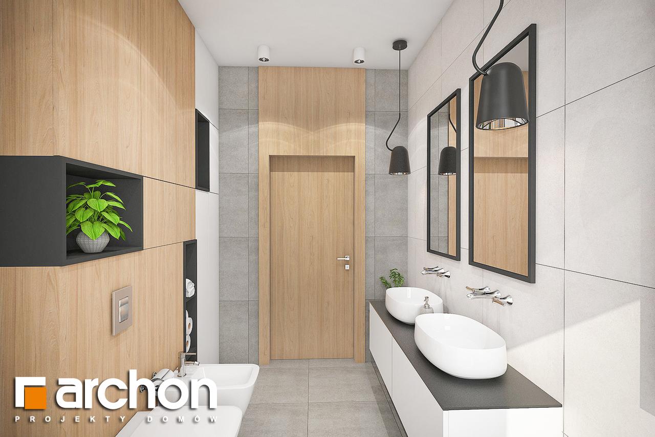 Проект дома ARCHON+ Дом в розах (Г2) визуализация ванной (визуализация 3 вид 2)