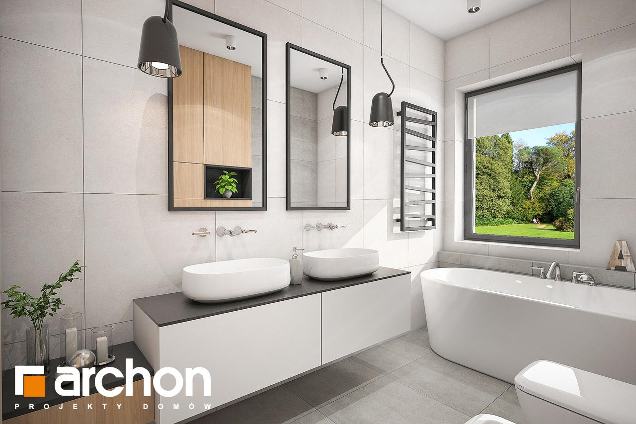Проект дома ARCHON+ Дом в розах (Г2) визуализация ванной (визуализация 3 вид 3)