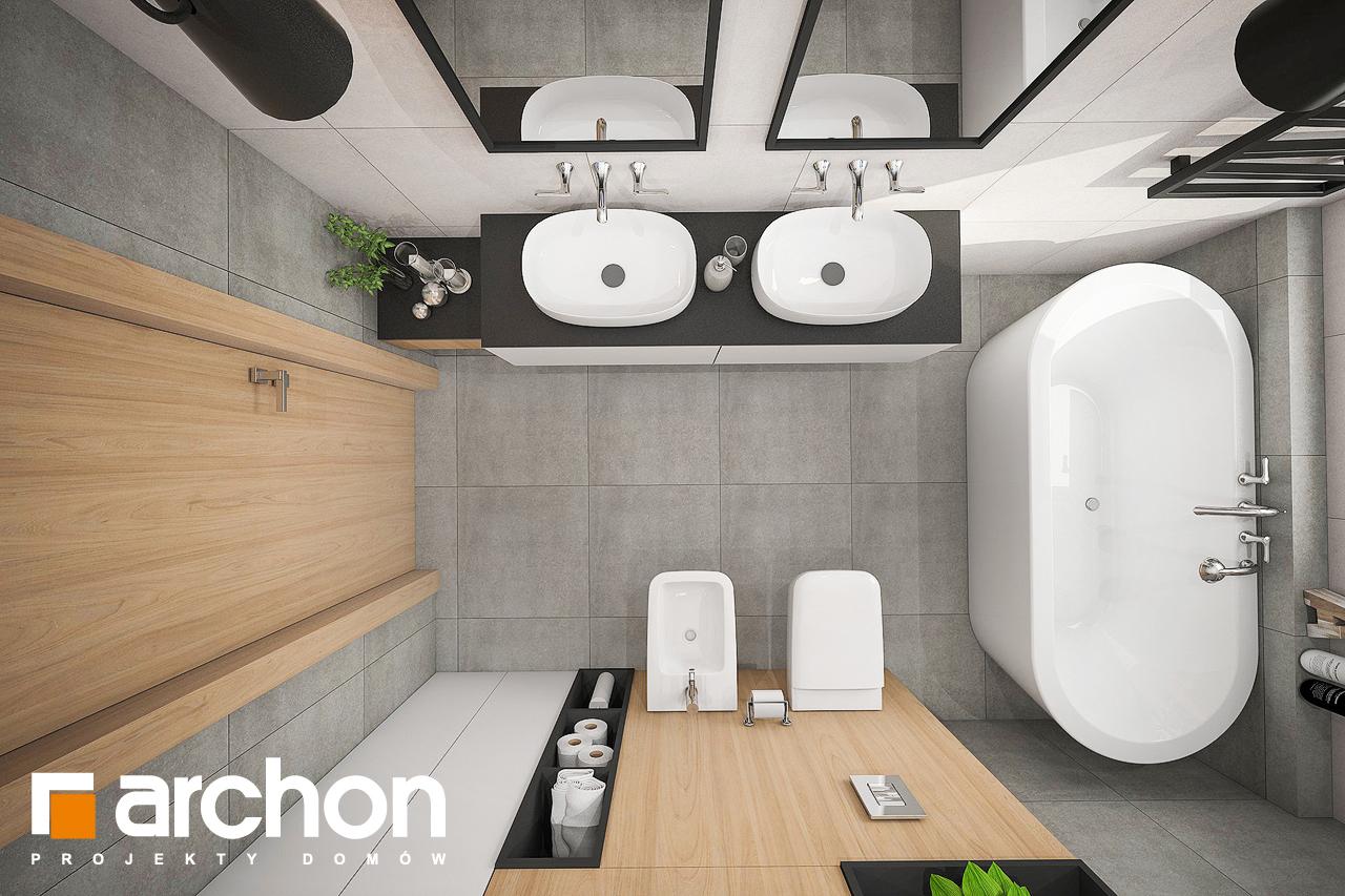Проект дома ARCHON+ Дом в розах (Г2) визуализация ванной (визуализация 3 вид 4)