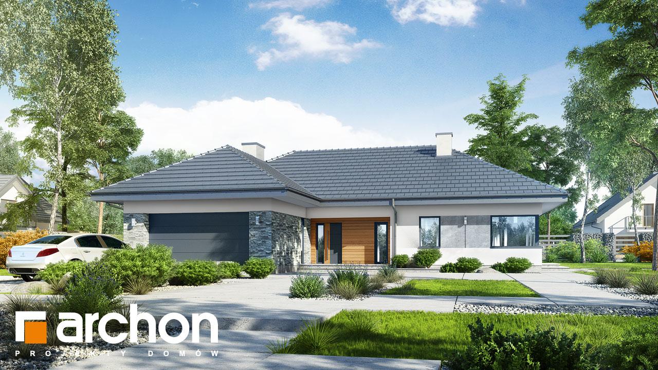 Проект будинку ARCHON+ Будинок в трояндах (Г2) Вид 2