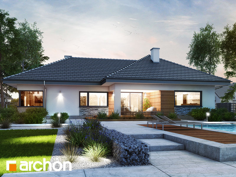 Проект дома ARCHON+ Дом в розах (Г2) Вид 1