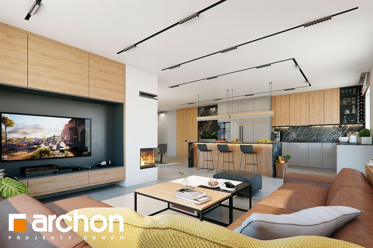 Проект дома ARCHON+ Дом в розах (Г2) дневная зона (визуализация 1 вид 1)
