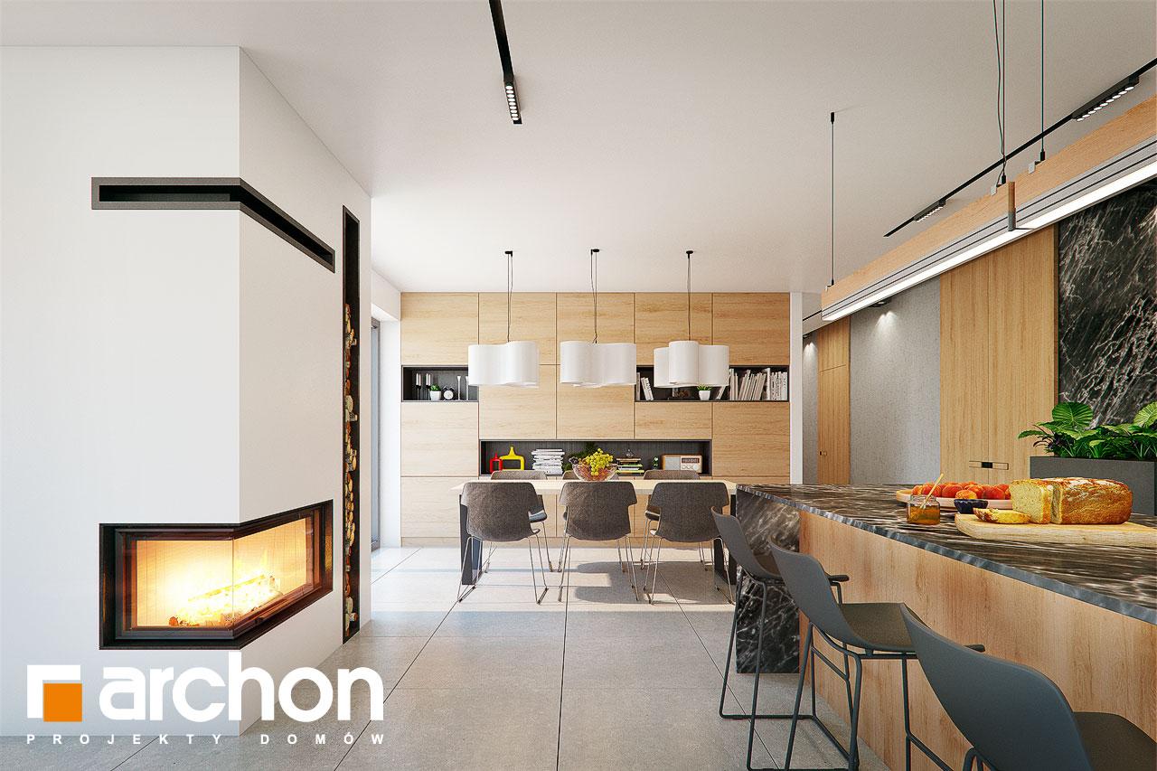 Проект дома ARCHON+ Дом в розах (Г2) дневная зона (визуализация 1 вид 3)