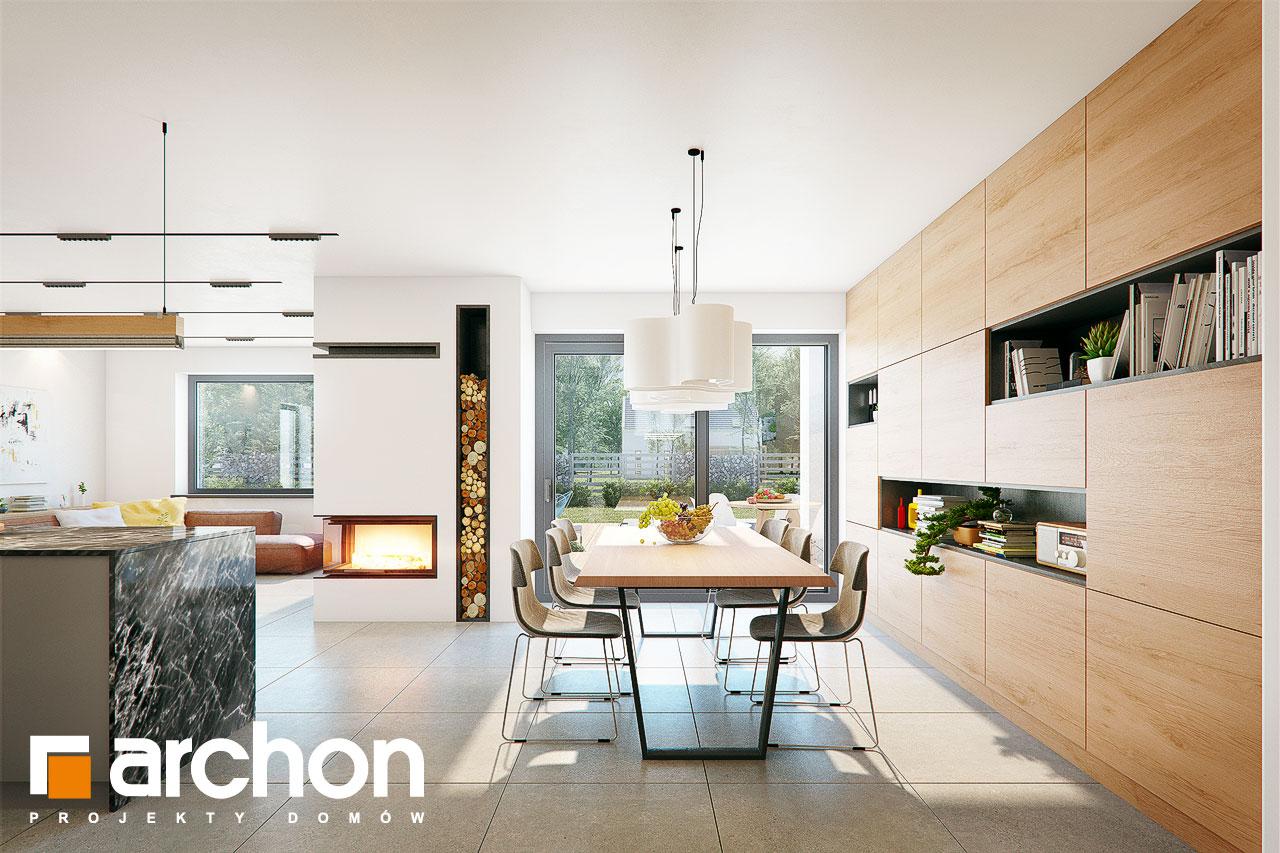 Проект дома ARCHON+ Дом в розах (Г2) дневная зона (визуализация 1 вид 4)