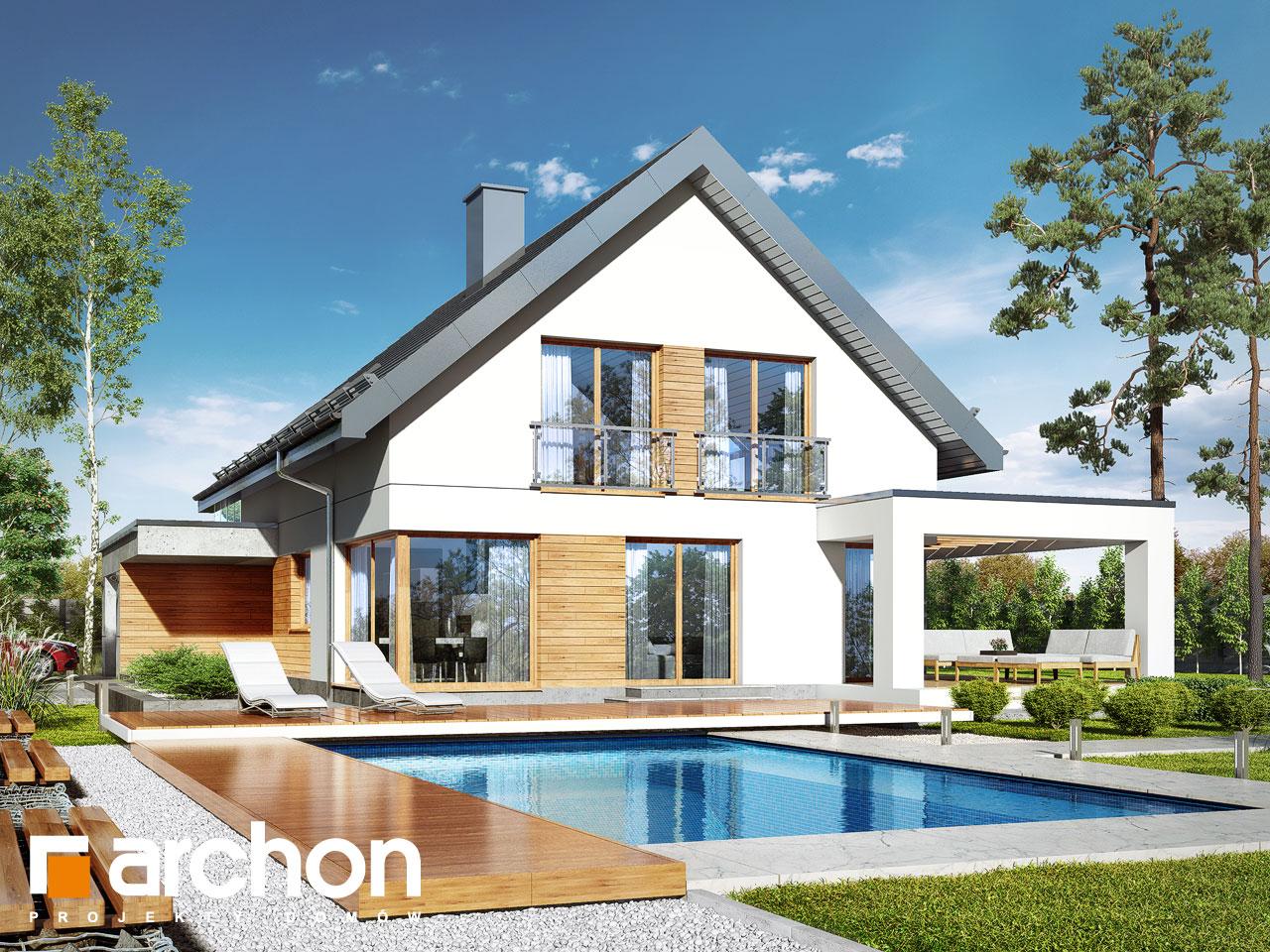 Проект будинку ARCHON+ Будинок в арабісах додаткова візуалізація