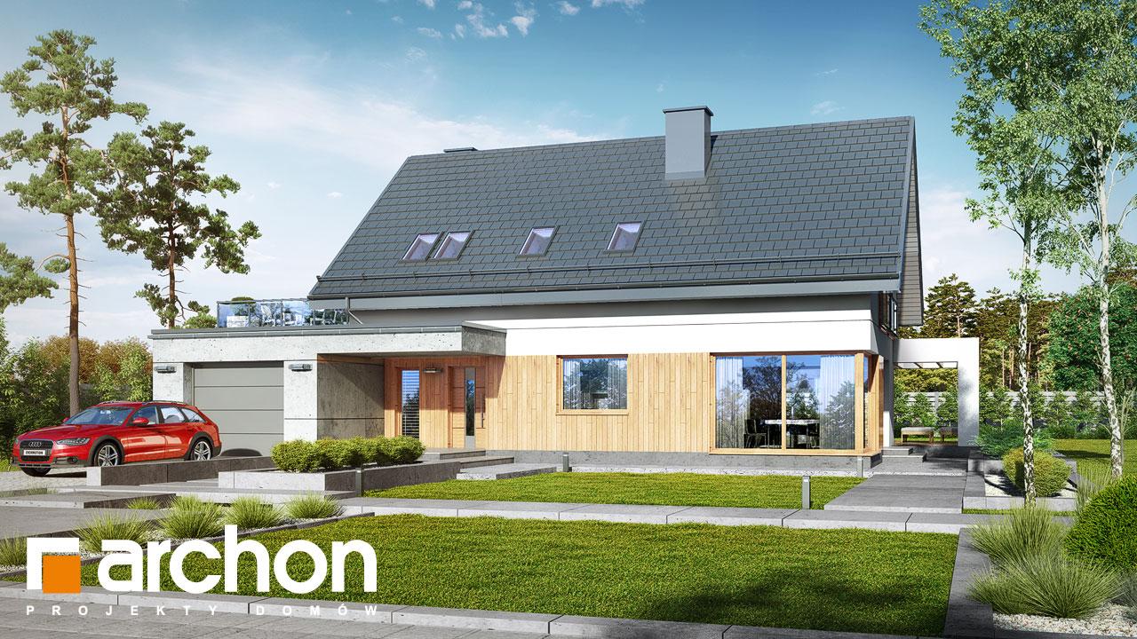 Проект будинку ARCHON+ Будинок в арабісах стилізація 3