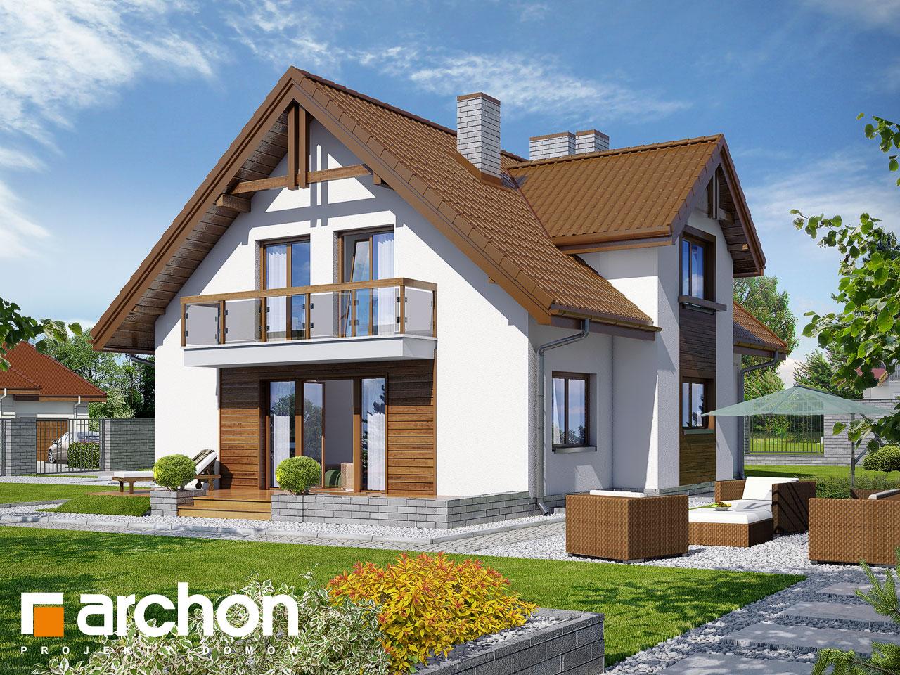 Проект будинку ARCHON+ Будинок в аспарагусах (ПН) вер.2 Вид 2