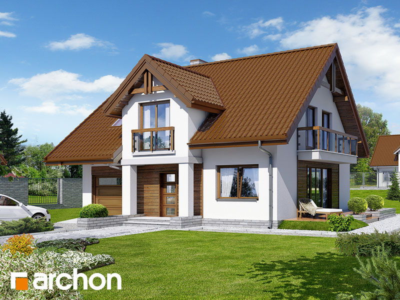 Проект будинку ARCHON+ Будинок в аспарагусах (ПН) вер.2 Вид 1